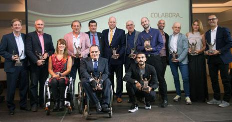 Galardonados en la primera edición de estos premios, el año pasado