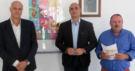 De izquierda a derecha, Santiago Malpica, José Carlos Contreras y Pedro Ramos