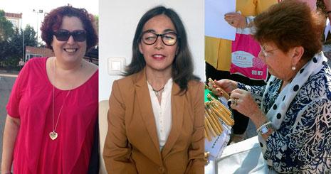 De izquierda a derecha Begoña García, Susana Mangut y Antonia Macarro