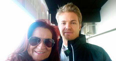 Mamen, junto a Nico Rosberg, vigente campeón de Fórmula 1