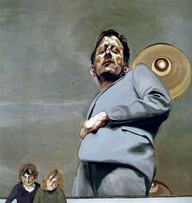 'Reflejo con dos niños', de Lucian Freud. Grada 122. Arte