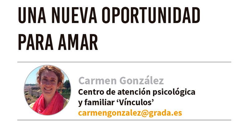 Una nueva oportunidad para amar. Grada 122. Psicología. Carmen González