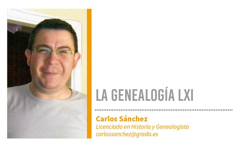Genealogía LXI. Grada 123. Carlos Sánchez