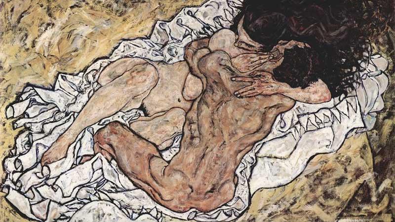'El abrazo', de Egon Schiele. Grada 123. Arte. Inmaculada González