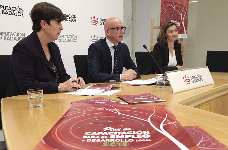 Plan de Capacitación para el Empleo y Desarrollo local 2018. Grada 123. Diputación de Badajoz