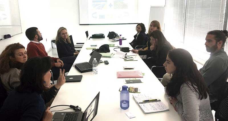 Responsables europeos en economía circular conocen empresas y centros de investigación extremeños. Grada 123. Fundecyt-Pctex