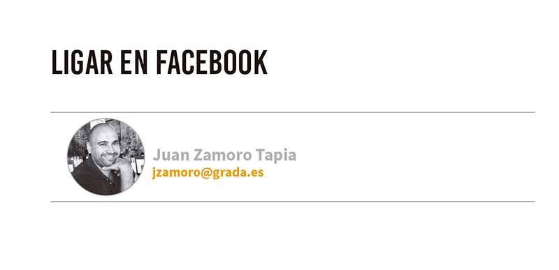 Ligar en Facebook. Grada 123. Tecnología. Juan Zamoro