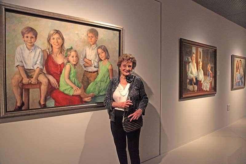 María Teresa Romero dona una obra al Museo de Bellas Artes de Badajoz