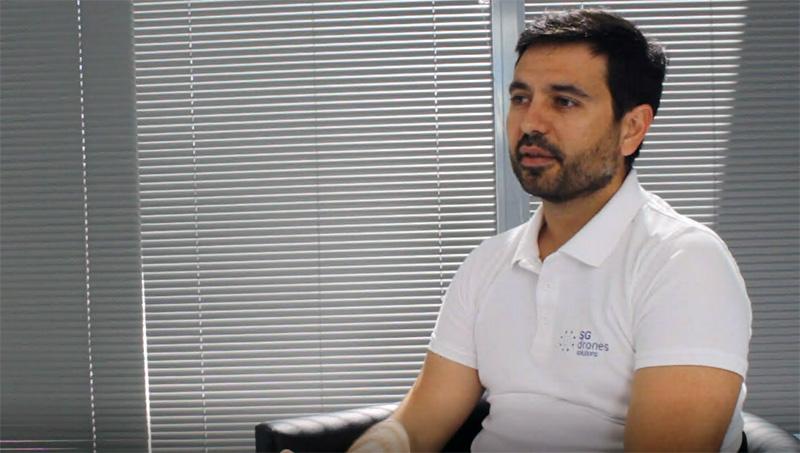 """Juan Serrano. Sg Drones: """"La legislación todavía cierra muchas puertas al desarrollo de los drones""""."""