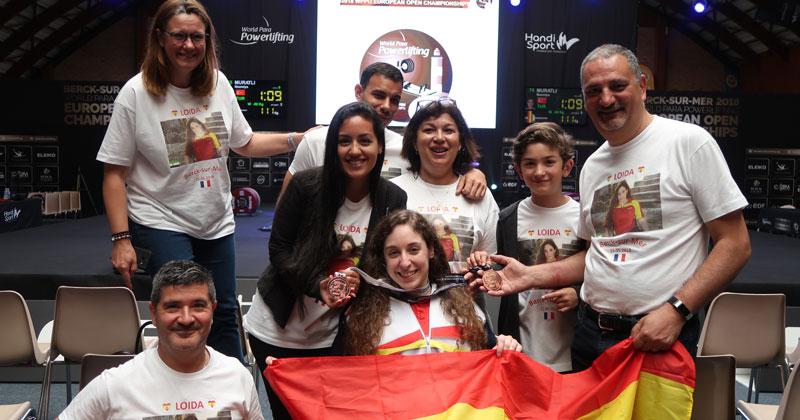 Doble medalla de bronce para Loida Zabala en el Campeonato de Europa de para powerlifting