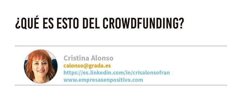 ¿Qué es esto del crowdfunding? Grada 123. Cristina Alonso