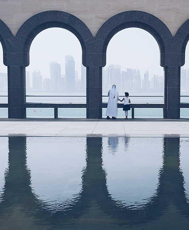 'Dos mundos conectados (Doha. Qatar)'. Grada 124. Fotografía
