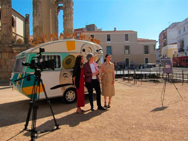 La 'Caravana de cine' descubre localizaciones extremeñas para la industria audiovisual
