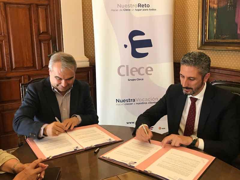 El Alcalde de Badajoz en colaboración con Clece para favorecer la contratación de personas desfavorecidas