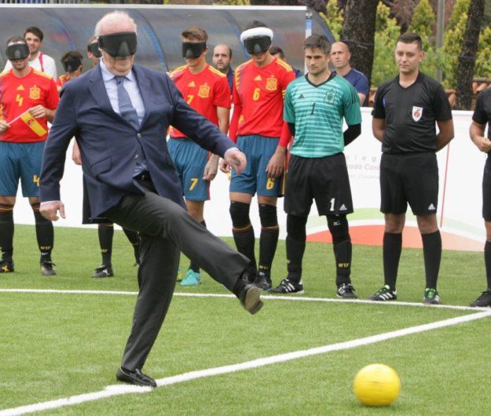 Del Bosque mundial para ciegos futbol 5
