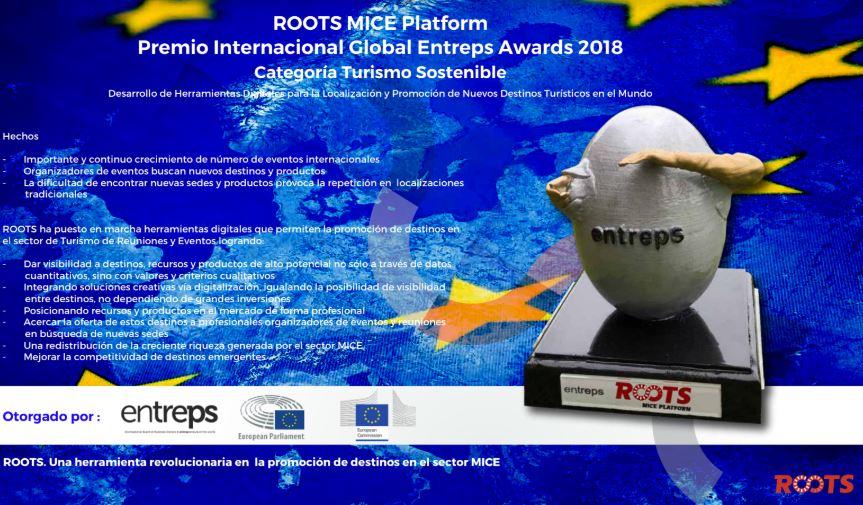 Mice Roots, Premio Internacional Global Entreps Awards 2018 en Turismo