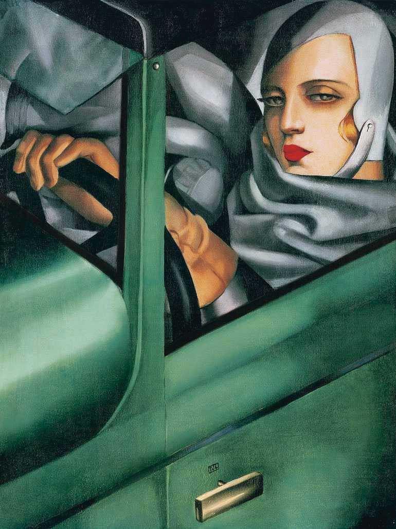 'Autorretrato en un Bugatti verde', de Tamara de Lempicka. Grada 125. Arte
