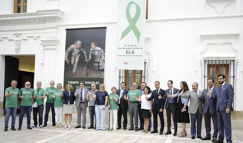 El Día Mundial de la Esclerosis Lateral Amiotrófica se conmemora en la Asamblea de Extremadura. Grada 125