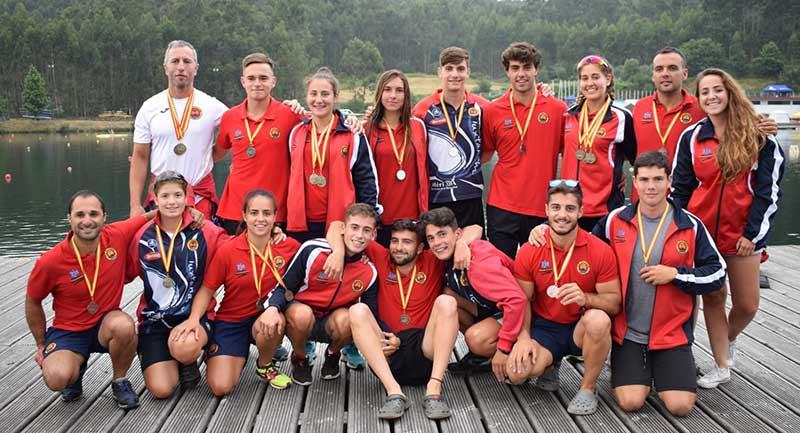 Gran participación de los clubes extremeños en el L Campeonato de España de piragüismo de Sprint olímpico