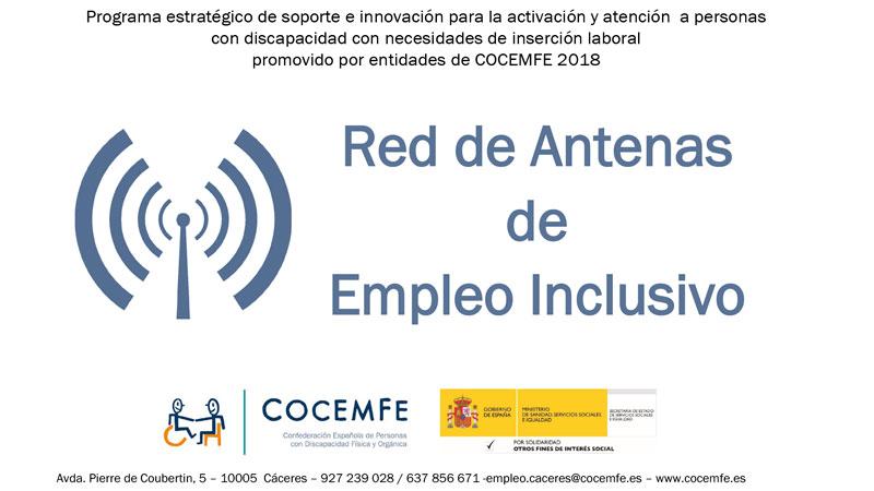 Cocemfe Cáceres propone a las empresas la implantación de 'Antenas de empleo inclusivo'