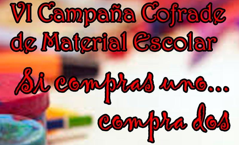 VI Campaña de la Junta de Cofradías de Mérida de recogida de material escolar para los más necesitados