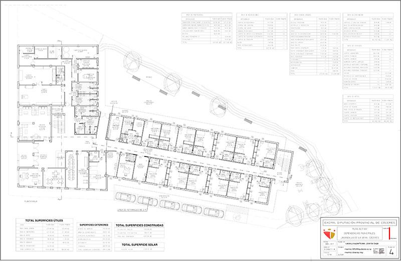La Diputación de Cáceres continúa la construcción de la residencia y centro de día de Jarandilla de la Vera