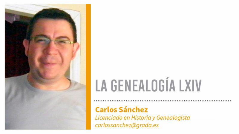 Genealogía LXIV. Grada 126. Carlos Sánchez