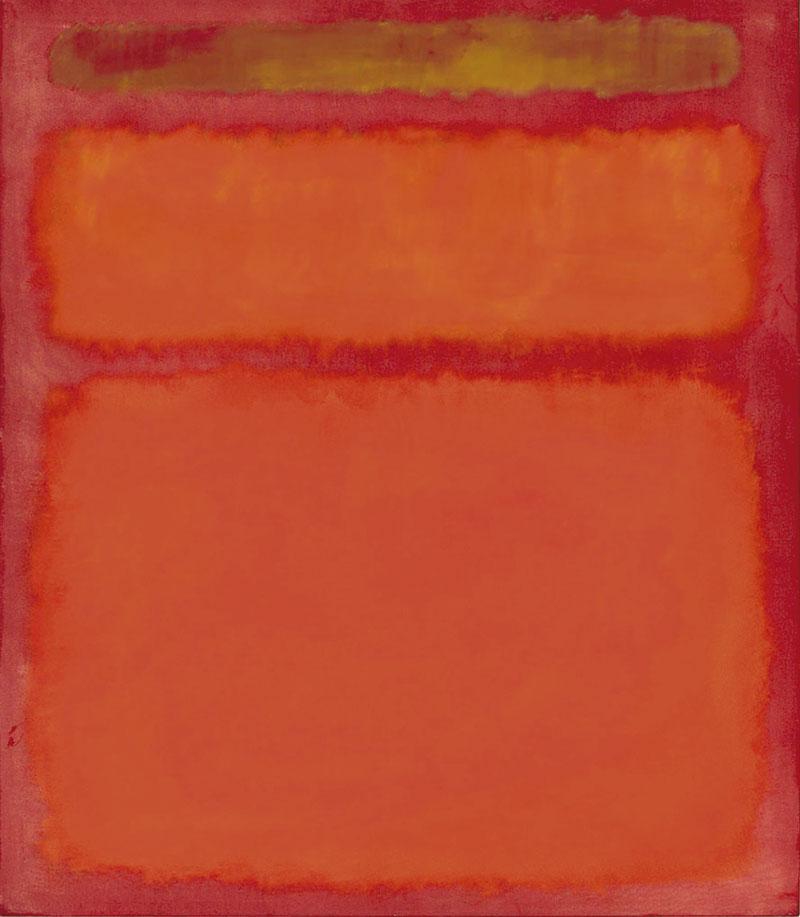 'Orange, red and yellow', de Mark Rothko. Grada 126. Arte