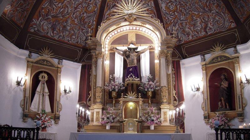 El Cristo de la Salud de la ermita de San Lázaro de Trujillo. Grada 126. Historia
