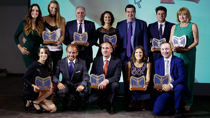 El salto internacional de los Premios Patrocina un Deportista. Grada 126