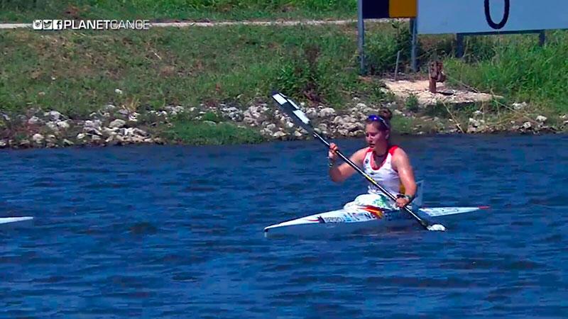 La piragüista Estefanía Fernández concluye la temporada con un balance positivo