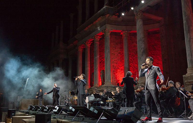 Gran concierto de 'Il Divo' en el ciclo musical 'Stone and Music' de Mérida