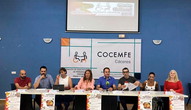 Cocemfe Cáceres presenta la sexta edición del festival 'Otoño cultural'
