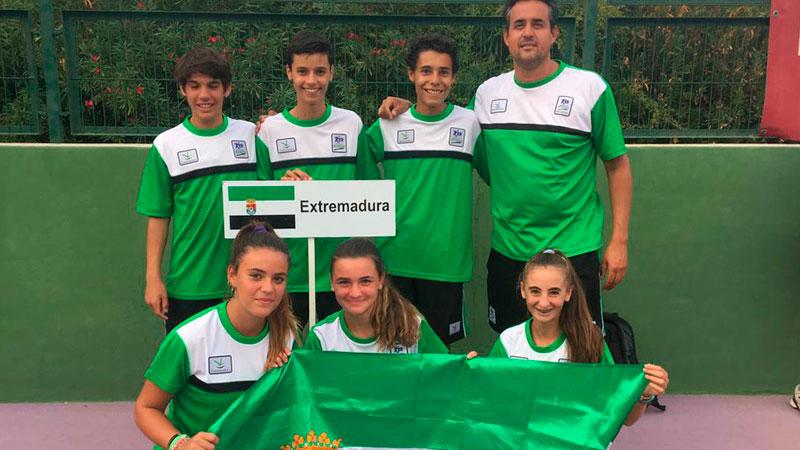 Buen resultado de la selección extremeña infantil en el Campeonato de España de tenis