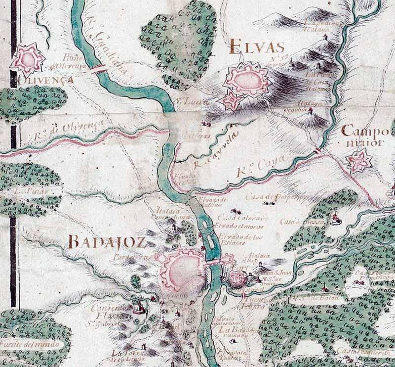 Viajar de Madrid a Lisboa no Século XVII. Grada 127. A fronteira