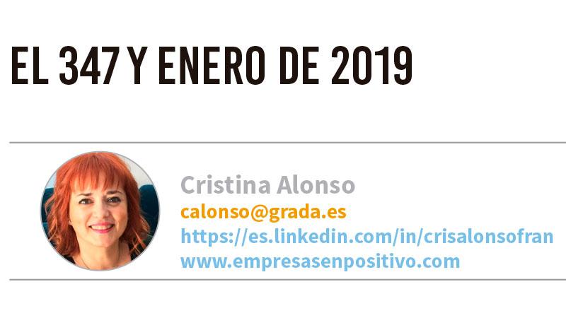 El 347 y enero de 2019. Grada 127. Cristina Alonso