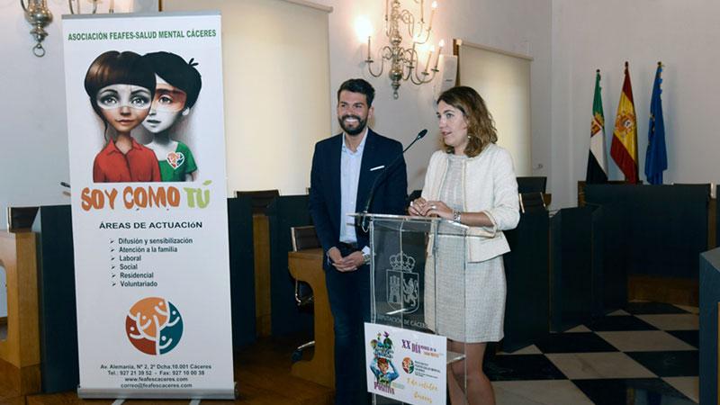 Feafes Cáceres celebra en la Diputación provincial un acto previo al Día Mundial de la Salud Mental