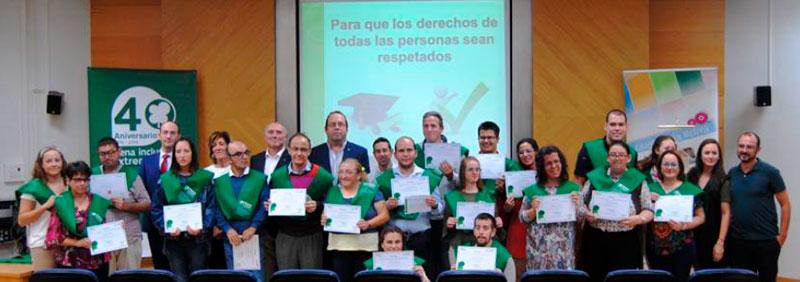 Curso de formador de formadores en derechos de Plena inclusión Extremadura
