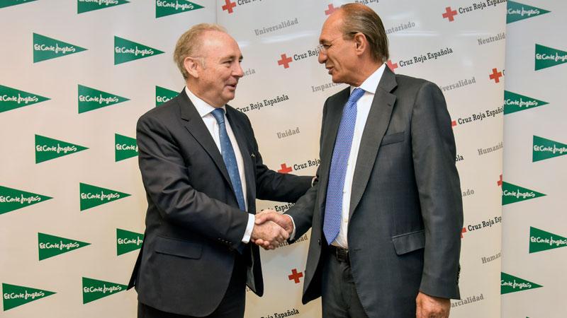 El Corte Inglés y Cruz Roja Española desarrollarán proyectos conjuntos de carácter social