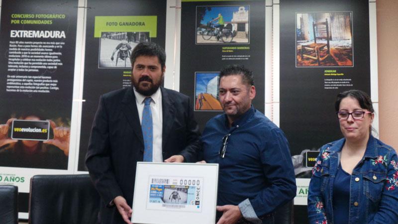 El cupón de la ONCE muestra la fotografía ganadora en Extremadura del concurso 'Veoevolución'