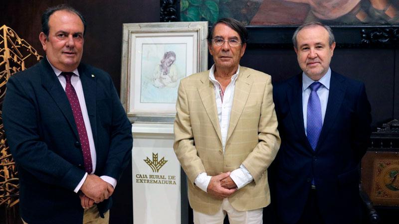 Feliciano Correa publica el libro 'Jaime de Jaraíz, la humanidad de un pintor', editado por Caja Rural de Extremadura