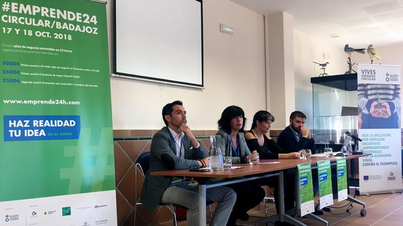 Una jornada acelera la creación de 22 negocios de economía verde y circular en Badajoz