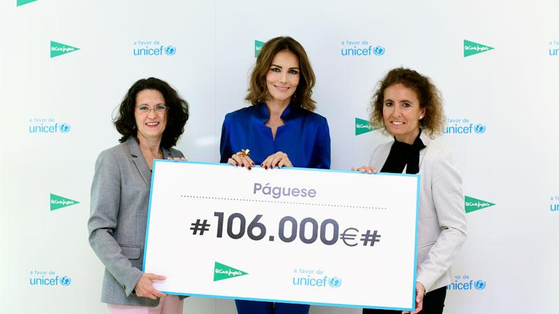 El Corte Inglés entrega 106.000 euros a Unicef procedentes de la campaña 'Juguetes solidarios'