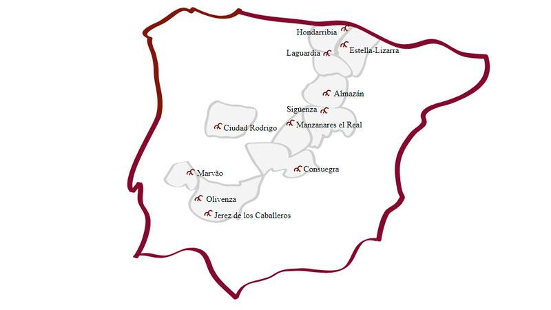 Jerez de los Caballeros y Manzanares el Real se incorporan a la Red de Ciudades y Villas Medievales