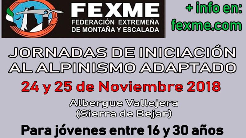 La Federación Extremeña de Montaña y Escalada organiza unas jornadas de iniciación al montañismo adaptado