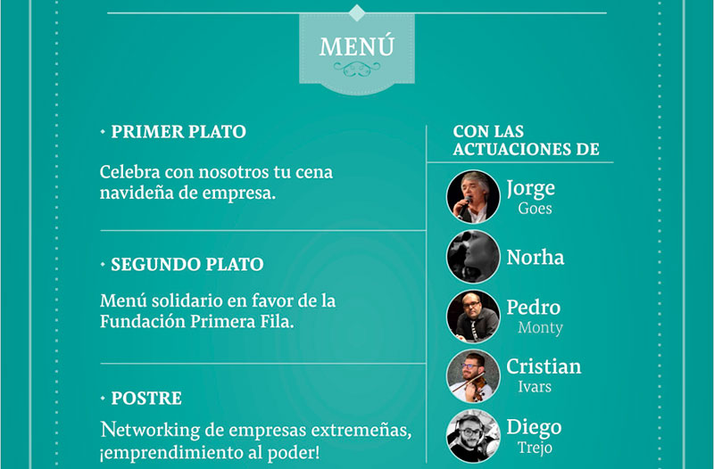 La Fundación Primera Fila organiza una nueva edición de su cena solidaria para empresas