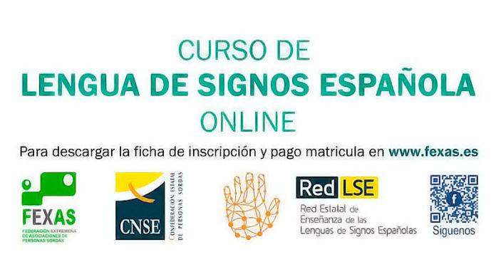 Fexas organiza un curso de lengua de signos española online, nivel básico A1, del 15 de enero al 11 de abril