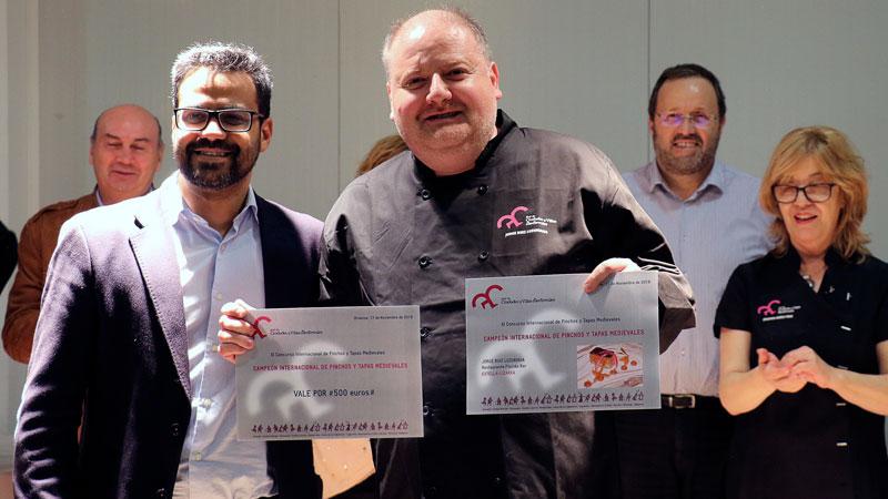 El navarro Jorge Ruiz Luzuriaga se corona 'Chef Medieval 2018' en Olivenza