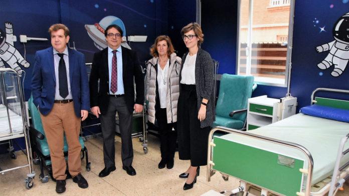 Los espacios de pediatría del hospital Materno Infantil de Badajoz presentan su nueva imagen