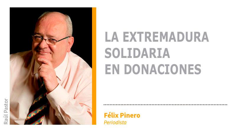 La Extremadura solidaria en donaciones